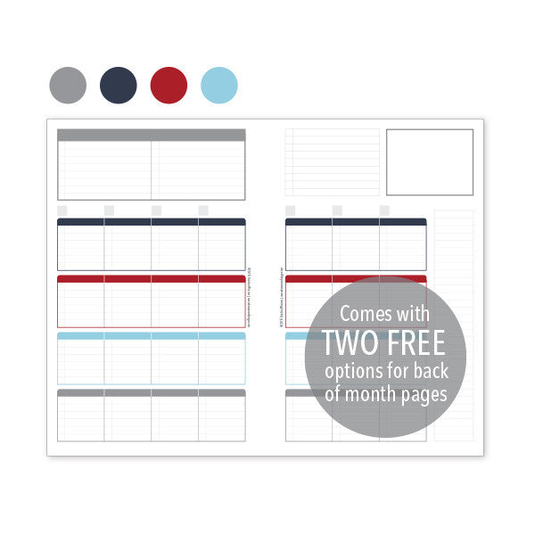 PlanThis Week-on-2-Pages Planner Pages - Nautical (Half-Letter)