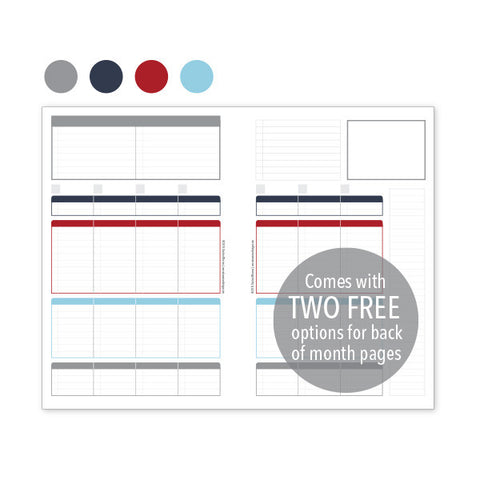 PlanThis Week-on-2-Pages Planner Pages - Nautical Uneven Daily Sections (Half-Letter)