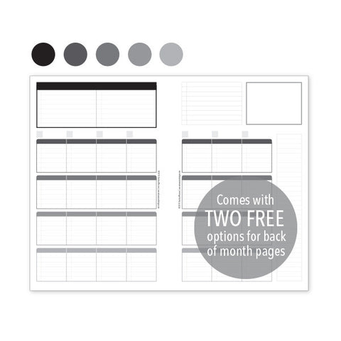 PlanThis Week-on-2-Pages Planner Pages - Neutrals (Half-Letter)