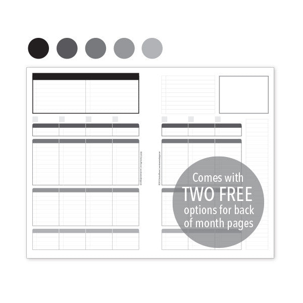 PlanThis Week-on-2-Pages Planner Pages - Neutrals Uneven Daily Sections (Half-Letter)
