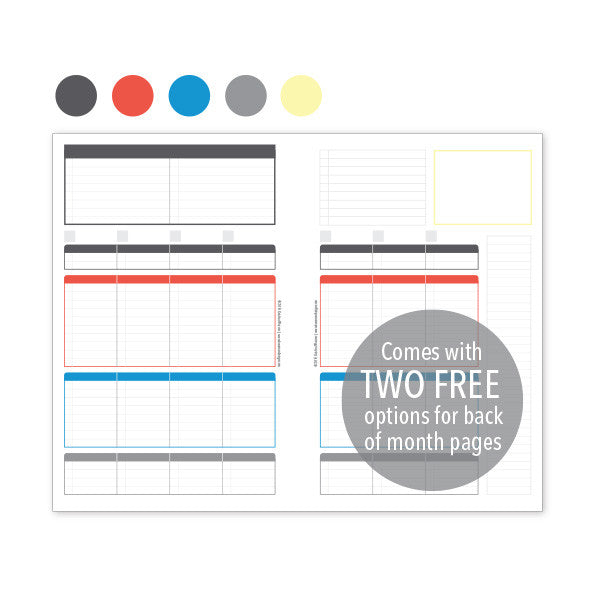 PlanThis Week-on-2-Pages Planner Pages - Original Uneven Daily Sections (Half-Letter)