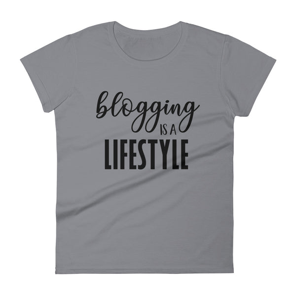 Blogging is a Lifestyle women's short sleeve t-shirt