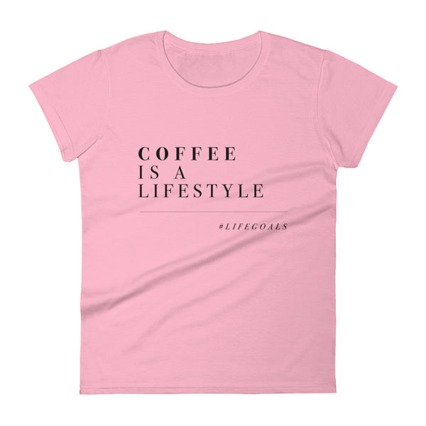 Coffee is a Lifestyle women's short sleeve t-shirt