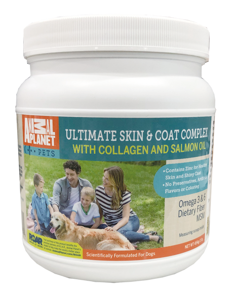Animal Planet Ultimate Skin and Coat Dog Food Supplement Complex with Collagen