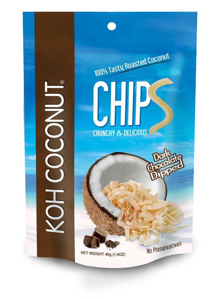 KOH COCONUT Coconut Chips Chocolate 40g (12 Pack)