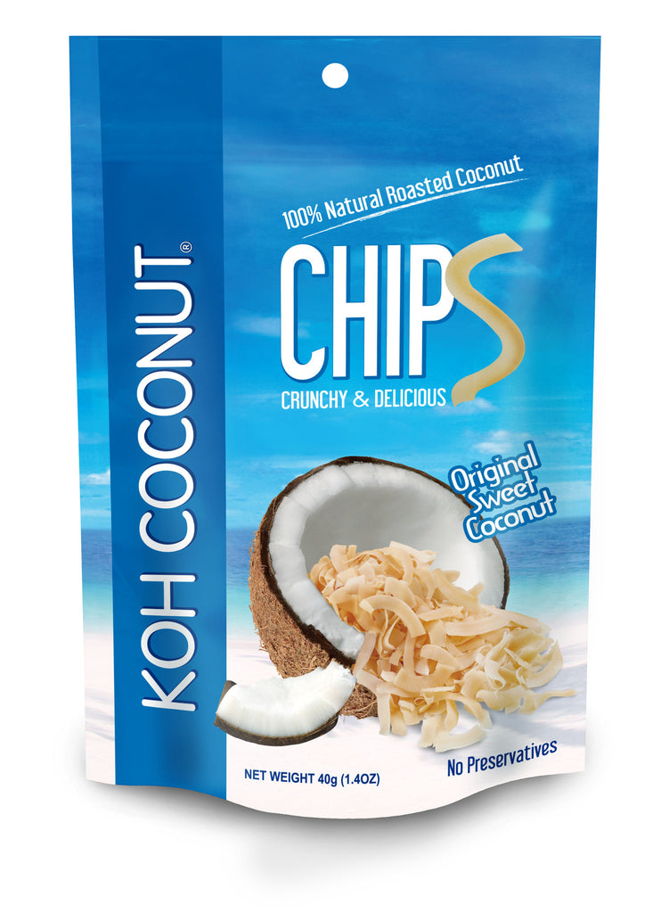 KOH COCONUT Coconut Chips Original Sweet 40g (12 Pack)