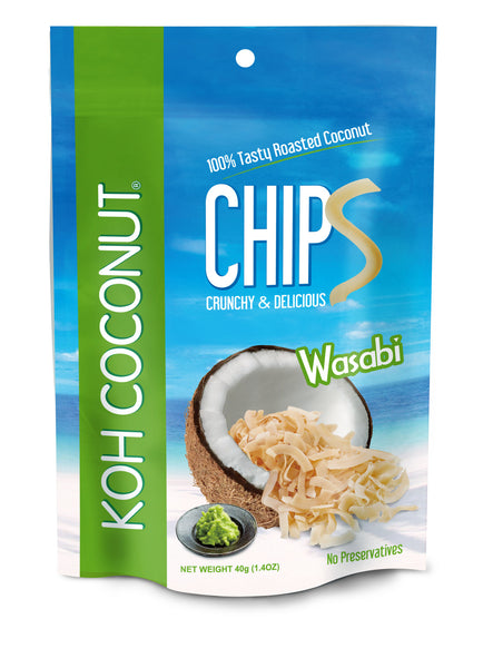 KOH COCONUT Coconut Chips Wasabi 40g (12 Pack)