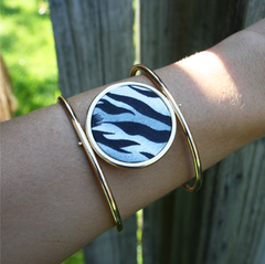 Reversible Circle Cuff Bracelet in Animal Instincts
