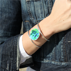 Reversible Circle Cuff Bracelet in Lagoon
