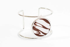 Reversible Circle Cuff Bracelet in Safari