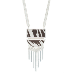 Convertible Half Moon Necklace in Safari