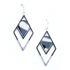 Angled Statement Earrings in Infinity