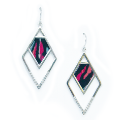 Angled Statement Earrings in Glam Rock