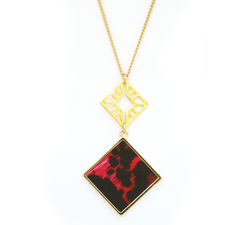 Double Sided Pendant Necklace in Flamenco