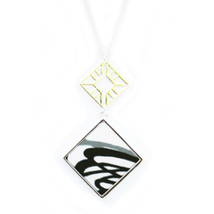 Double Sided Pendant Necklace in Infinity