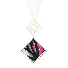 Double Sided Pendant Necklace in Glam Rock