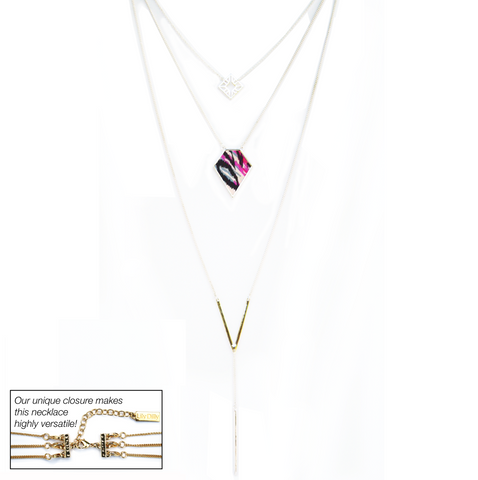 7 Way Layered Necklace in Glam Rock