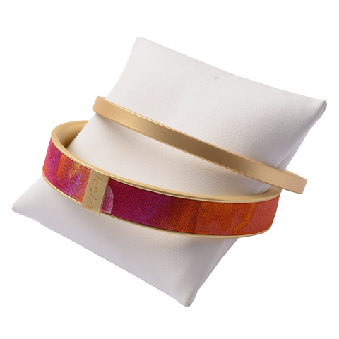 Lily Dilly Bangle Bracelet Set in Gold/Sunburst