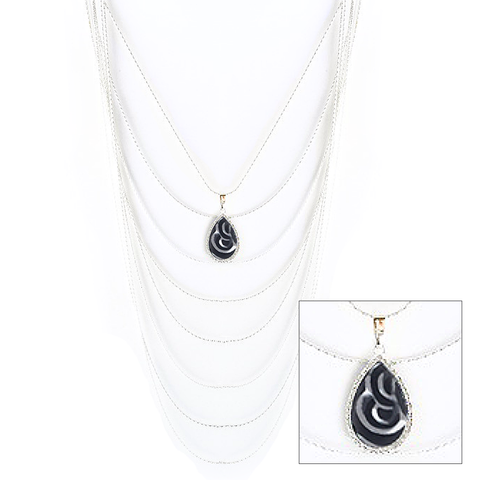 Reversible Cascading Layered Necklace in Eclipse