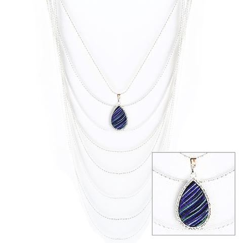 Reversible Cascading Layered Necklace in Pluma