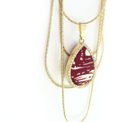 Reversible Cascading Layered Necklace in Vineyard