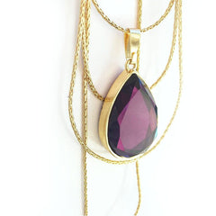 Reversible Cascading Layered Necklace in Starlet