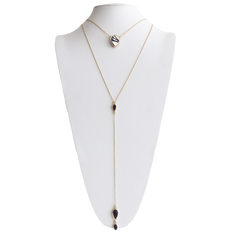 Layered Lariat Necklace in Starlet