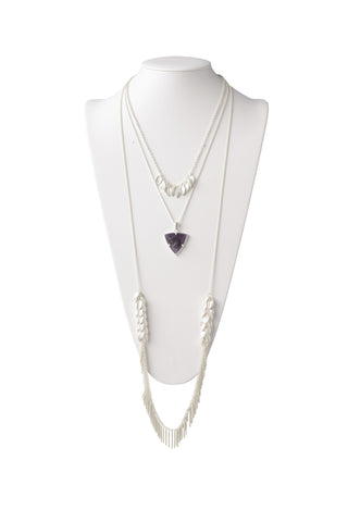Multi-Layered Necklace in Amethyst