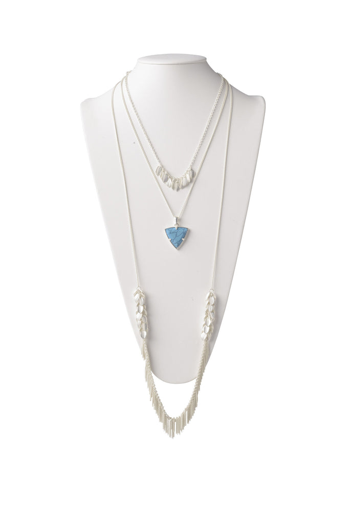 Multi-Layered Necklace in Turquoise
