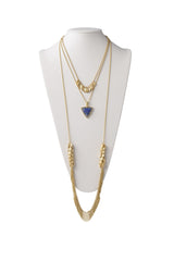 Multi-Layered Necklace in Lapis
