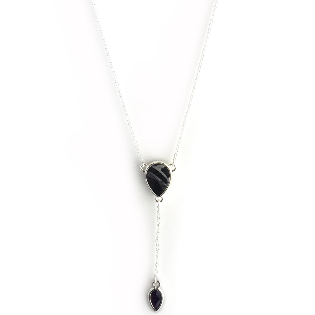 Reversible Pear Lariat in Eclipse