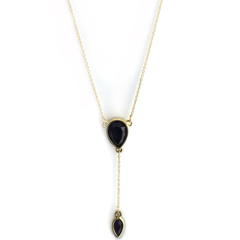 Reversible Pear Lariat in Starlet