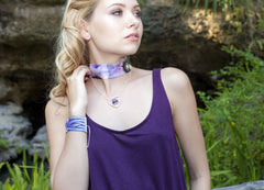 Scarf Choker Necklace in Allure