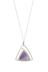 Convertible Trillion Statement Necklace in Amethyst