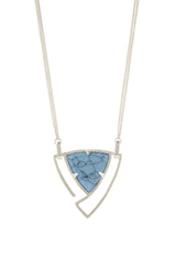 Convertible Trillion Statement Necklace in Turquoise