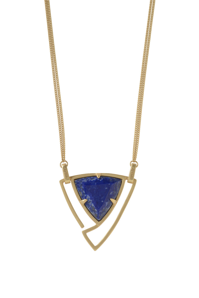 Convertible Trillion Statement Necklace in Lapis