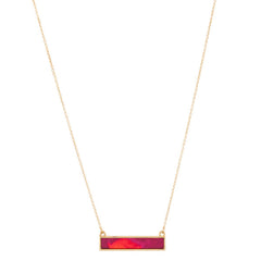 Reversible Bar Necklace in Wildfire