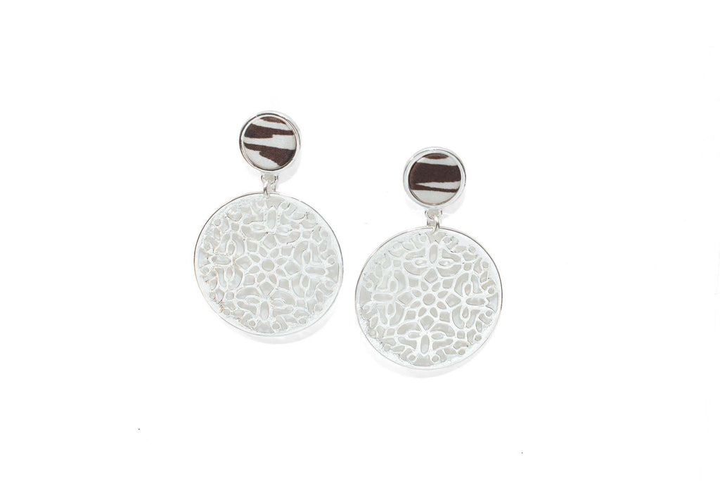 Filigree Dangle Earrings in Safari