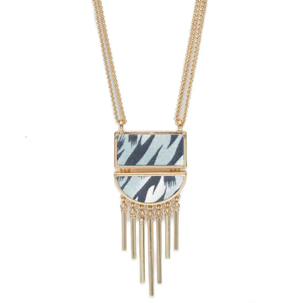 Convertible Half Moon Necklace in Animal Instinct (gold)