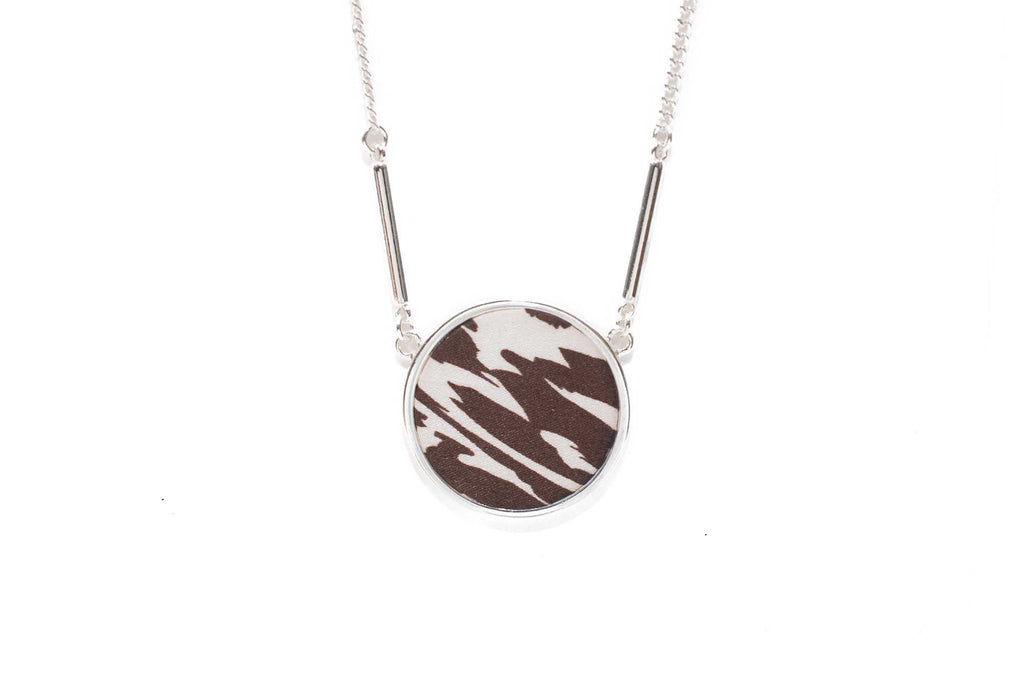 Reversible Circle Necklace in Safari