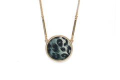 Reversible Circle Necklace in Animal Instinct (gold)