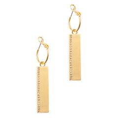 Reversible Rectangle Earrings in Wildfire