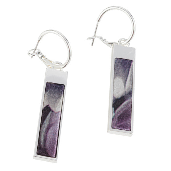 Reversible Rectangle Earrings in Night Bloom