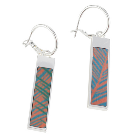 Reversible Rectangle Earrings in West Palm