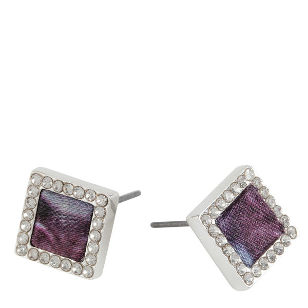 Square Stud Earrings in Night Bloom