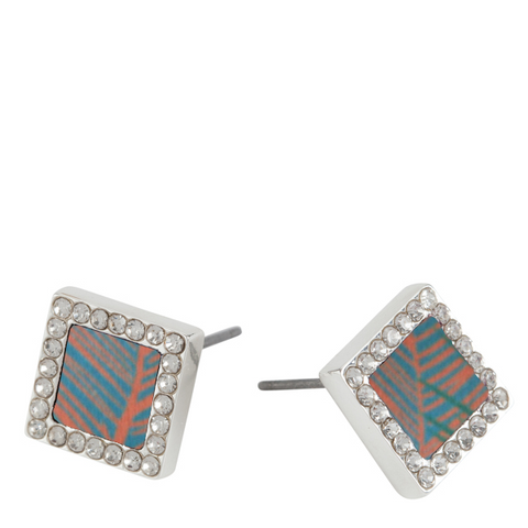 Square Stud Earrings in West Palm