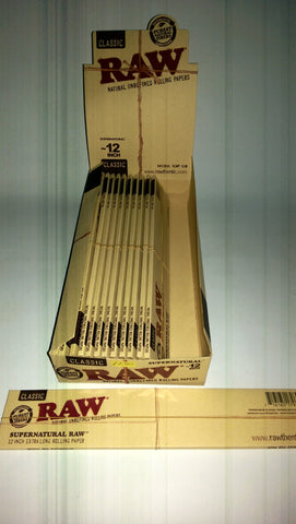 12 Inch Rolling Papers by Raw - Headsupplies.co.uk