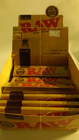 Raw Classic Natural Rolling Papers - Headsupplies.co.uk