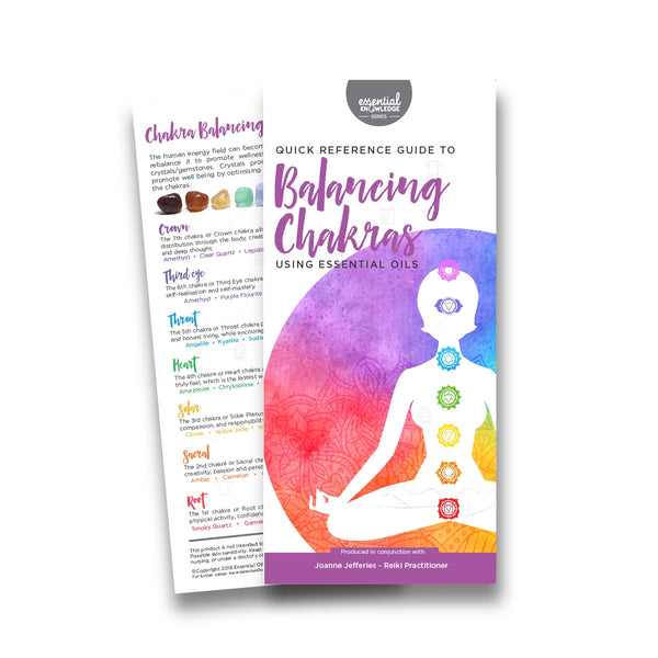 Infobrosjyre: Quick Reference Guide to Balancing Chakras Using Essential Oils