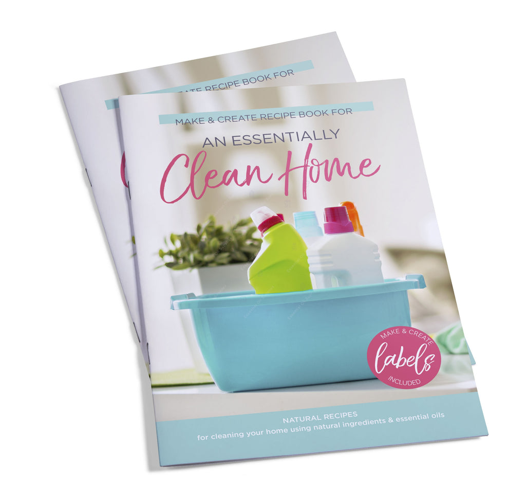 Essentially Clean Home Make & Create Recipe HEFTE (inkluderer over 40 flaskeetiketter)